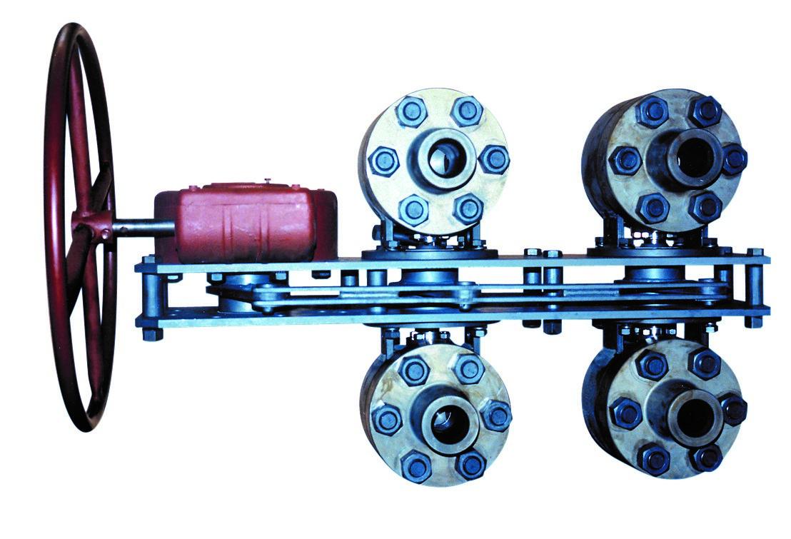 配备特殊连接的 MOGAS 阀门。