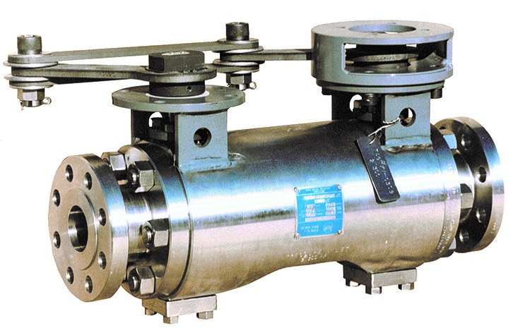 MOGAS valve featuring double balls.