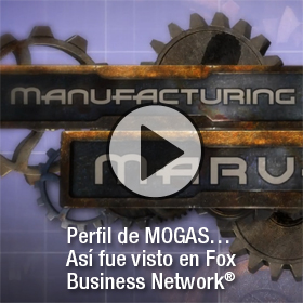 Video of MOGAS capabilities as seen on Manufacturing Marvels. In Spanish