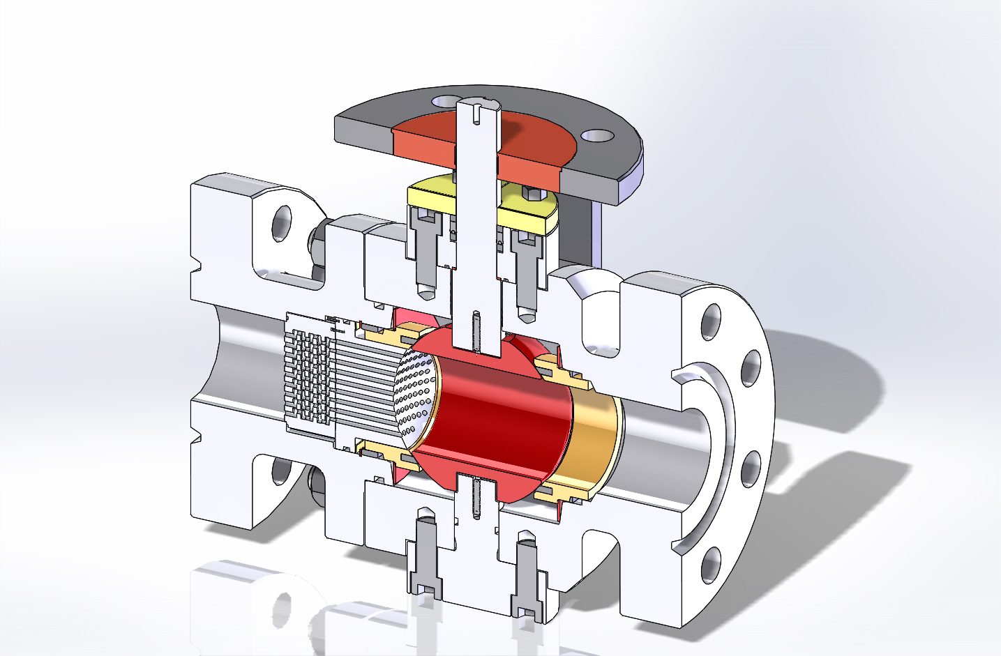 cutaway of a MOGAS ball valve