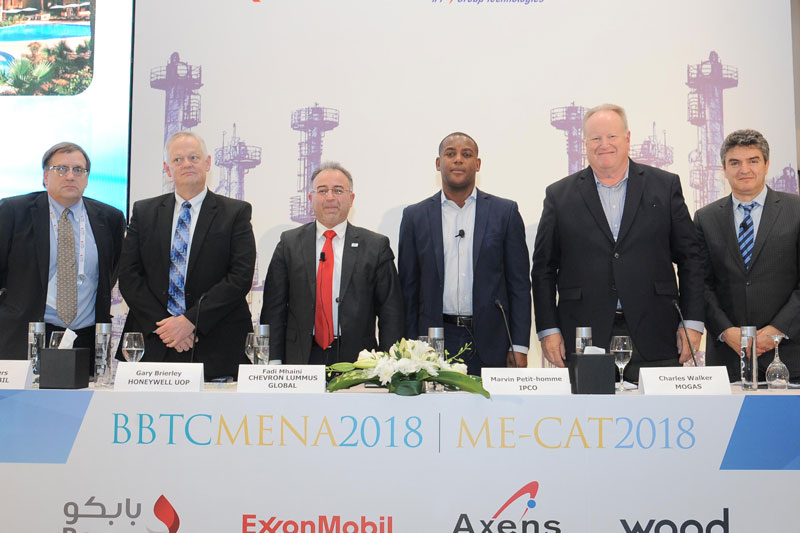Charles Walker (pictured second from the right) poses with other speakers at BBTC MENA 2018