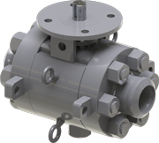 Solid rendition of MOGAS SC-3PC valve